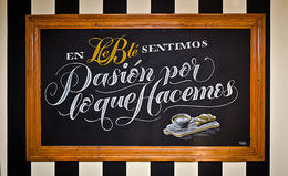 Le Ble漂亮的黑板字体设计
