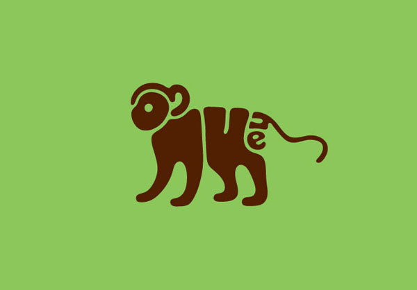 20个创意动物英文字体设计欣赏