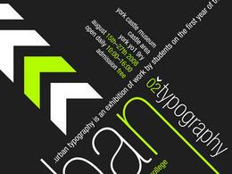 24幅创意时尚字体海报分享(二)