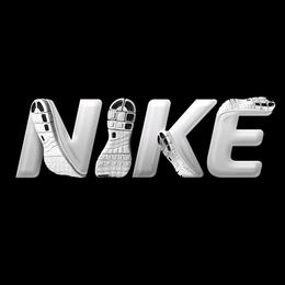 与运动鞋相结合的字体设计