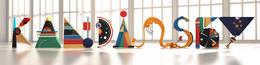 色彩丰富的KANDINSKY立体字设计