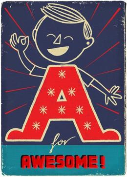 一组童趣可爱的卡通字母设计