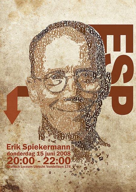 27例国外创意字体肖像设计欣赏