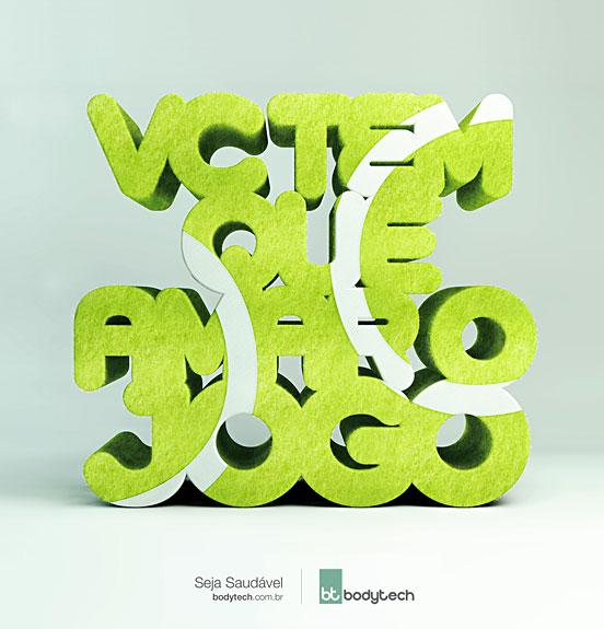 bodytech字体广告设计欣赏