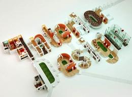 莫斯科Flyart Group工作室创意3D字体设计