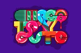 一组糖果效果的字体设计欣赏