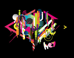羅馬尼亞設計師安德烈色彩豐富的字體設計