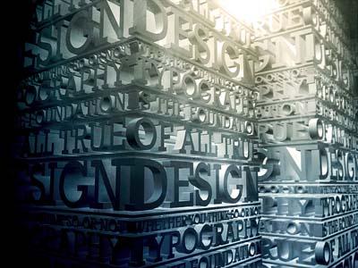 經典字體設計收集之超絢立體字(一)