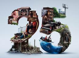 美国HBO电视网25周年字体设计