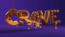 Cadbury CRAVE三維立體字設計欣賞