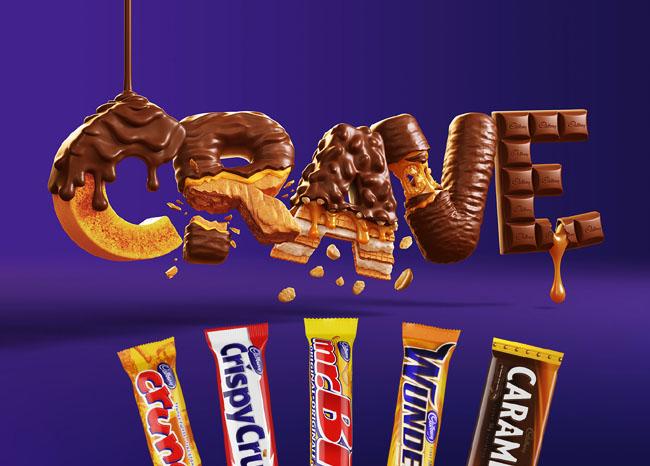 Cadbury CRAVE三维立体字设计欣赏