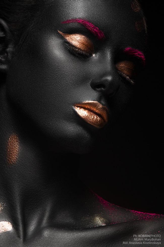 Black skin妝容肖像攝影欣賞