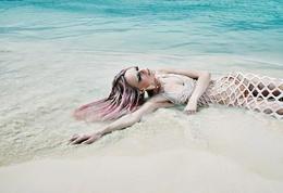 """优美的沙滩""""人鱼""""摄影欣赏"""