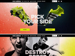 adidas: Be the Difference运动鞋网站
