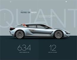 簡約時尚的汽車網站設計