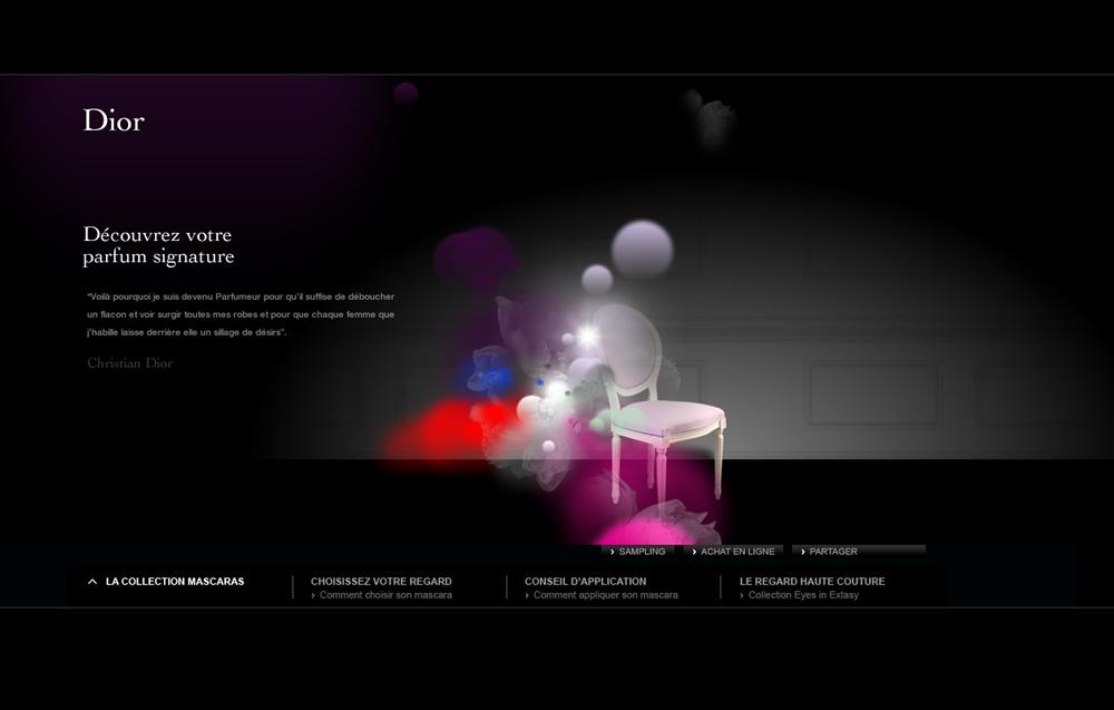 DIOR香水网站欣赏设计