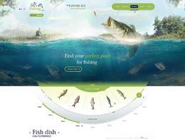 釣魚漁具產品網站欣賞設計