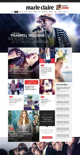 Marie Claire 新首頁排版設計