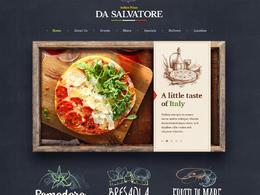 比萨店网站欣赏设计