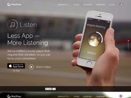 Listen音乐播放器产品网站欣赏