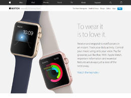 Apple Watch产品网站欣赏