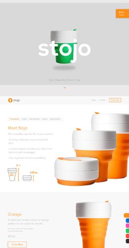 stojo折叠式袖珍杯产品网站欣赏