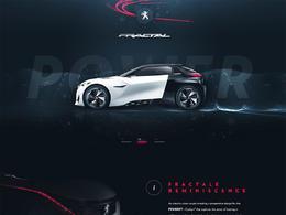 Peugeot Fractal車型網站欣賞