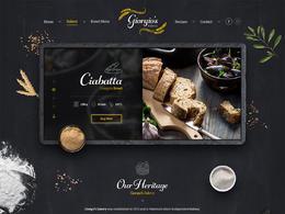 吉奥吉奥的面包店网站欣赏设计