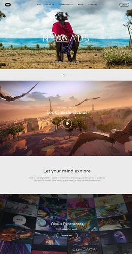 Oculus Gear VR和Oculus Rift產品網站欣賞