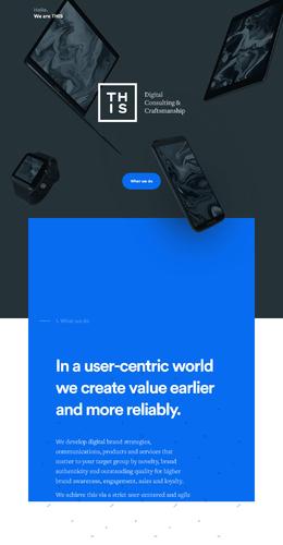 THIS數字咨詢設計公司網站欣賞