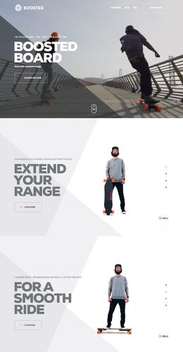 Boosted終極電動滑板產品網站欣賞