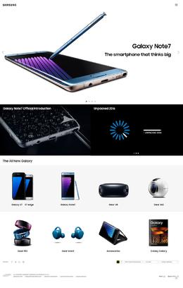 三星Galaxy-S7智能手機產品網站欣賞
