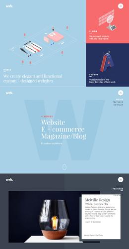wrk法國創意網站欣賞工作室