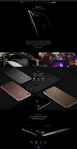 iPhone7在此!美國蘋果iPhone7產品網站欣賞