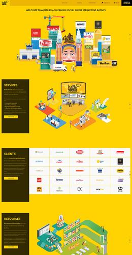 Hello Social社會媒體營銷機構設計公司網站欣賞