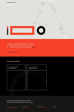 瑞典斯德哥爾摩Anatoliy互動設計師和藝術總監網站欣賞