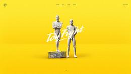 ToyFight-一個獲獎的設計創意機構網站欣賞