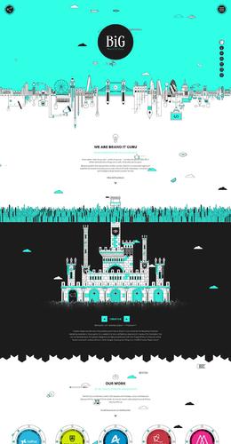 BiG創意設計機構網站欣賞