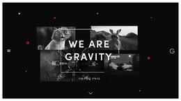 Gravity Creative Space設計機構網站欣賞