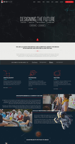 DigiTech網頁設計設計師網站欣賞