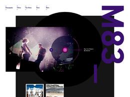 M83網站欣賞排版設計