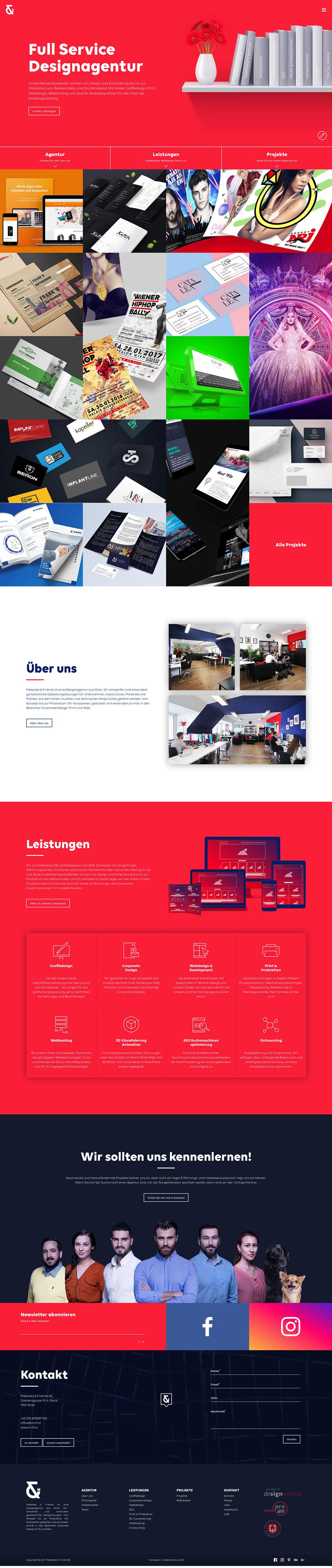 Mekades & Friends平面設計和網頁設計機構網站欣賞