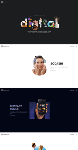 Humaan設計公司網站欣賞
