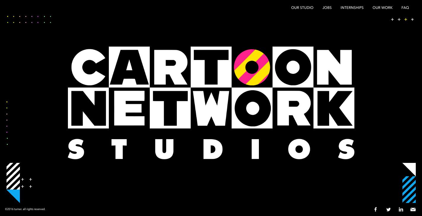 活潑生動的卡通頻道 網站設計