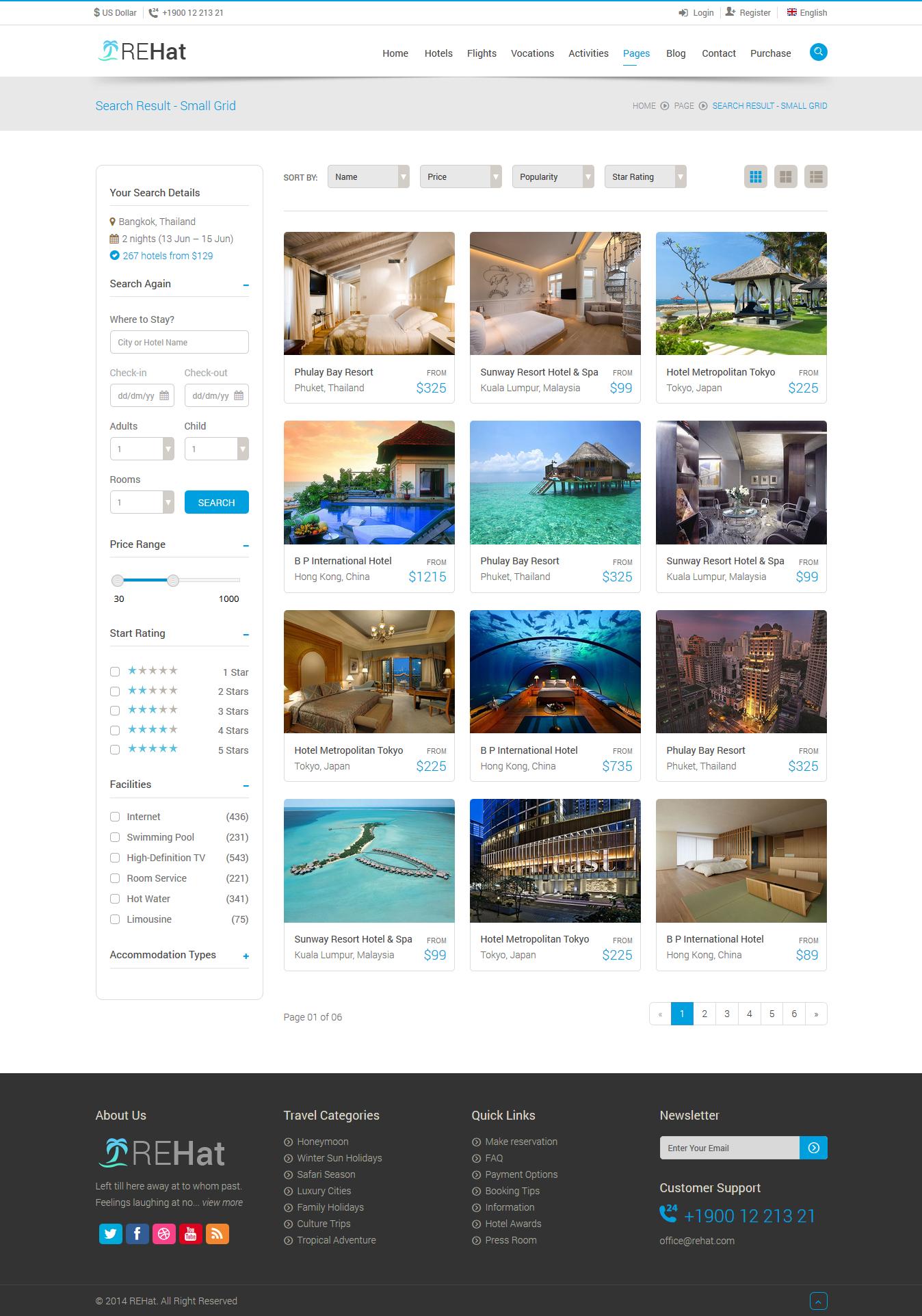 優秀的旅游網站設計欣賞