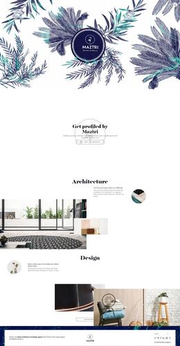 maztri建筑设计公司网站