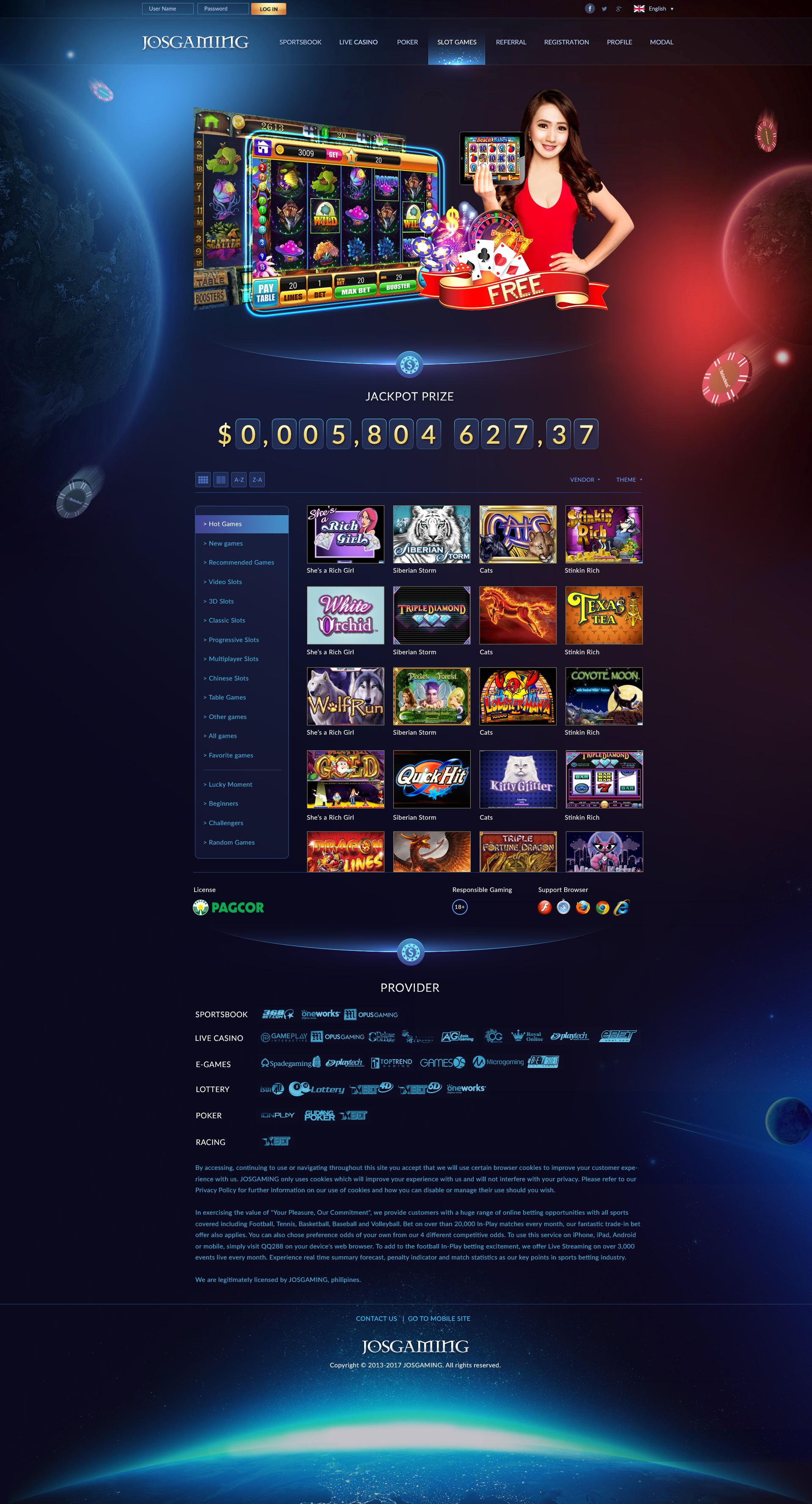 國外菠菜網站設計欣賞 Casino Website