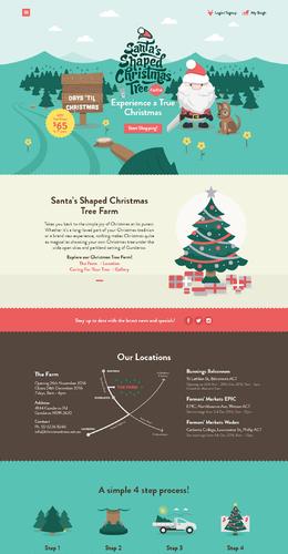 体验圣诞节圣诞老人活动专题页面