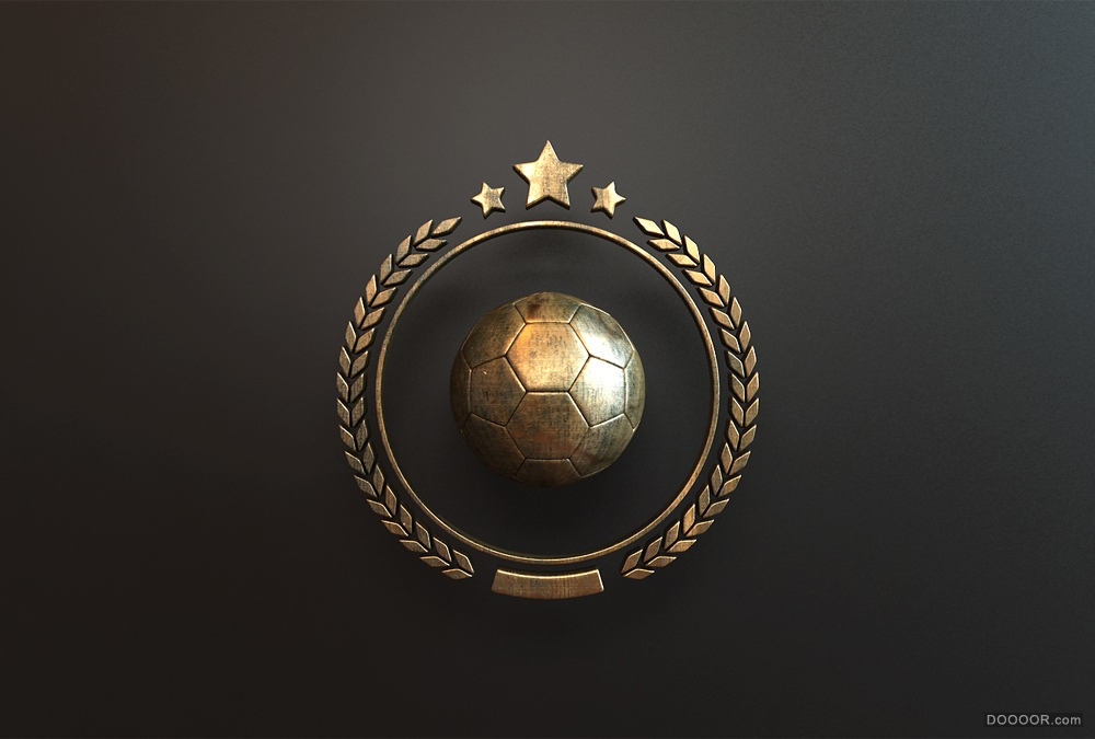 帅气质感铜质运动徽章