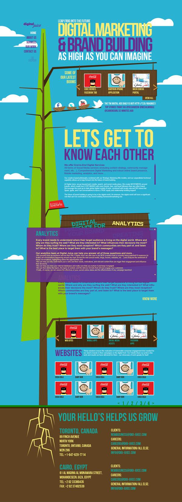 欧也!DIGITAL JUICE纯色彩-利落干脆果汁网页设计